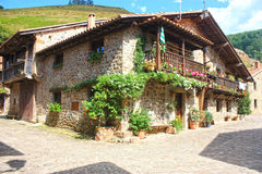 Typical old village Cantabria, Spain Stock Images