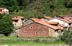Typical old village Cantabria, Spain Stock Photography