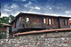 Typical Old Wooden House. In Sozopol, Bulgaria Stock Photography
