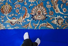 Typical Omani carpet Royalty Free Stock Photos