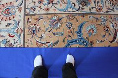 Typical Omani carpet Royalty Free Stock Photo