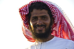 Typical Omani man smiling Royalty Free Stock Image