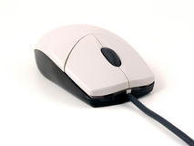 Typical optical mouse. Viewed from the front right Royalty Free Stock Images