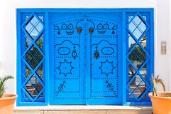 Ornamental Blue Doors. Royalty Free Stock Photo