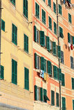 Facades in Camogli Stock Images