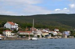 Typical panorama of croatian riviera. Europe. Croatia. Adriatic sea of Mediterranean area. Summer 2013 royalty free stock image