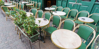 Typical Paris Cafe Stock Photography