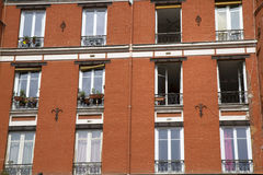 Typical parisian architecture Stock Images
