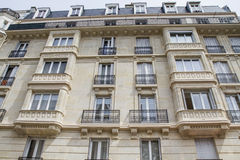 Typical parisian architecture, renovated Royalty Free Stock Photos