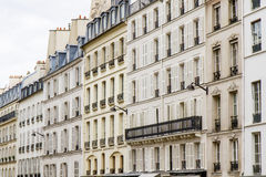 Typical parisian architecture, renovated Stock Photography