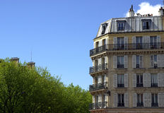Typical Parisian building Royalty Free Stock Image