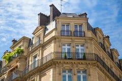 Typical parisian building facade Stock Image