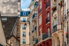 Typical parisian buildings. Stock Photo