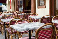 Typical Parisian outdoor cafe Stock Photography