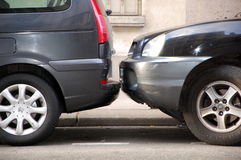 Typical parisian parking Royalty Free Stock Photography