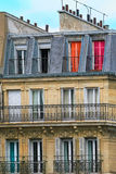 Typical parisian residential building. Stock Photo