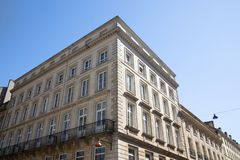 Typical parisian residential buildings of Haussmann and Art Deco style city paris bordeaux. A Typical parisian residential buildings of Haussmann and Art Deco stock photo