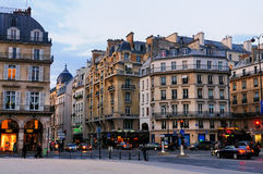 Typical Parisien Street Royalty Free Stock Photos