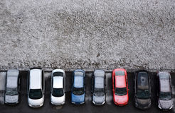 Typical parking places in Saint-Petersburg Stock Photos