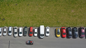 Typical parking places in Saint-Petersburg Stock Photo