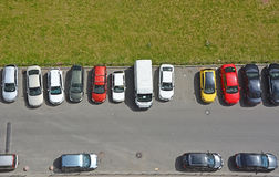 Typical parking places in Saint-Petersburg Royalty Free Stock Image