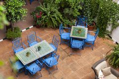 Typical patio in Andalusia, Seville, 2014 stock photo
