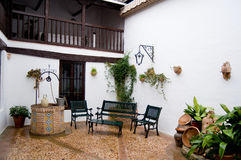 Typical patio from Castilla la stock photography