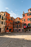 Typical paved campo or urban square in Venice Royalty Free Stock Photos