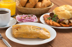 Typical Peruvian Breakfast Royalty Free Stock Photo