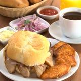 Typical Peruvian Breakfast Royalty Free Stock Photo