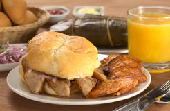 Typical Peruvian Breakfast Royalty Free Stock Image