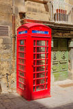 Typical phone booth, in Valletta Stock Photos
