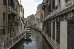 Typical picturesque romantic Venetian canal - Venice, Italy Royalty Free Stock Images