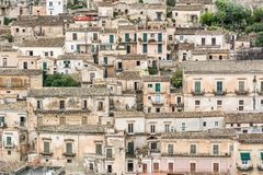 Typical picturesque town houses on a hill in Southern Italy royalty free stock photos