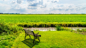 Typical Polder landscape at the historic village of Midden Beemster in the Beemster Polder Stock Photos