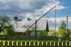 Typical polish rural landscape in Podlasie Royalty Free Stock Photography