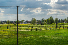 Typical polish rural landscape in Podlasie Stock Photography
