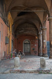 A typical porch in Bologna, Italy Royalty Free Stock Image