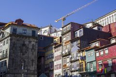 Typical Porto old houses royalty free stock photography
