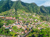Typical Portugal Town on Madeira Island Stock Photography