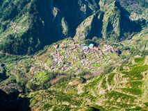 Typical Portugal Town on Madeira Island Royalty Free Stock Images