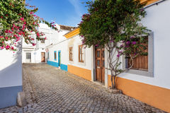 Typical Portuguese alley. street of the village. Stock Image