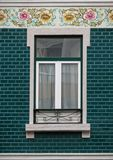 Typical Portuguese Architecture: Tile Azulejos Window - Portugal Royalty Free Stock Images