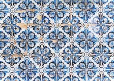 Typical portuguese beautiful old tiles. royalty free stock photography