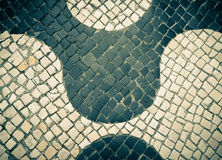 Free Typical Portuguese Black And White Stone Mosaic Royalty Free Stock Image - 48800706