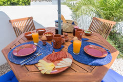 Typical Portuguese breakfast. Stock Photo