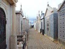 Free Typical Portuguese Cemetery In Fuseta At The Algarve Coast Of Portugal Royalty Free Stock Photo - 215743555