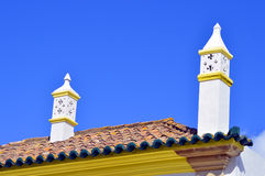 Typical Portuguese chimney pots Royalty Free Stock Photography