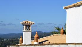 Typical Portuguese chimney pots Royalty Free Stock Images