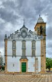 Typical portuguese church in Olhao Stock Photo